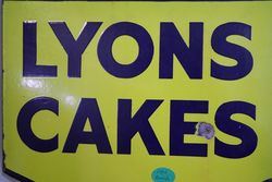 Lyons Cakes Double Sided Enamel Advertising Sign