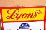 Lyons Ice Cream Advertising Enamel Sign