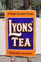 Lyons Tea Large Enamel Advertising Sign