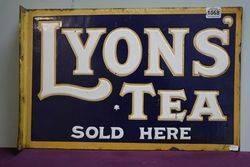 Lyons Tea Sold Here Double Sided Enamel Vintage Shop Sign