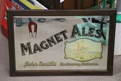 Magnet Ales Mirror Wooden Framed Sign