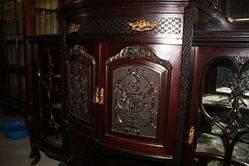 Mahogany Louis Parlor Cabinet