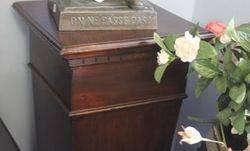 Mahogany Pedestal