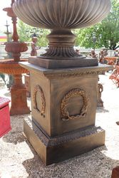 Massive Toulouse Cast Iron Urn And Base