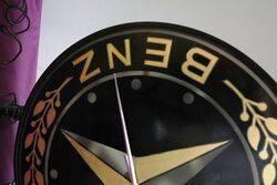 MercedesBenz Double Sided Dealership Clock