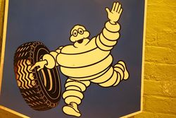 Michelin Double Sided Enamel Advertising Sign
