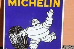 Michelin Enamel Advertising Shield Sign