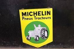 Michelin Tractor Shield Enamel Sign