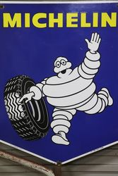 Michelin Tyre Double Sided Metal Mounted Advertising Sign