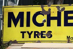 Michelin Tyres Enamel Advertising Sign