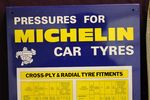 Michelin Tyres Tin Chart New Old Stock Dated 1972