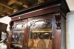 Mid C19th Mahogany 2 Door Bookcase C1860