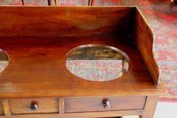 Mid Victorian Mahogany Double Washstand