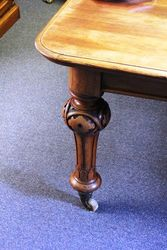 Mid Victorian Oak 4 Leaf Extension Table
