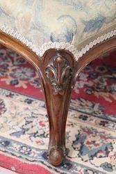 Mid Victorian Walnut Cabriole Leg Stool