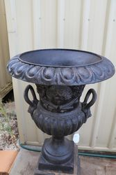 Milano Cast Iron Urn and Crested Base
