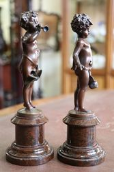 Miniature Pair Of French Bronzes