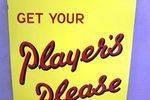 Mint Original Classic Players Please Enamel Sign