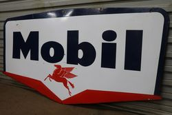 Mobil Double Sided Enamel Advertising Sign