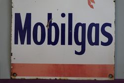 Mobilgas Enamel Advertising Sign
