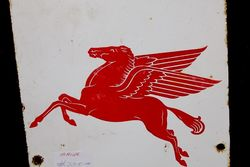 Mobilgas Pegasus Pictorial Enamel Advertising Sign