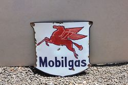 Mobilgas Sheild Enamel Advertising Sign