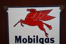 Mobilgas Special Enamel Advertising Sign