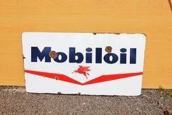 Mobiloil Enamel Advertising Sign