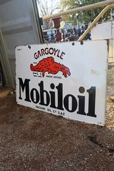 Mobiloil Enamel Advertising Sign