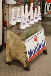 Mobiloil Enamel Front 10 Bottle Oil Rack
