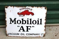 Mobiloil Gargoyle AF Enamel Sign