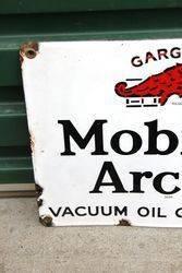 Mobiloil Gargoyle Arctic Enamel Sign