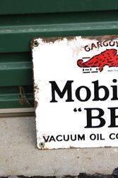 Mobiloil Gargoyle BB Enamel Sign