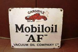 Mobiloil Gargoyle Enamel Advertising Sign
