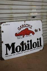 Mobiloil Gargoyle Enamel Sign