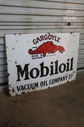 Mobiloil Gargoyle Vacuum Oil Enamel Advertising Sign