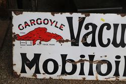 Mobiloils Enamel Advertising Sign