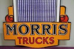 Morris Trucks Double Sided Enamel Advertising Sign