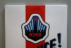Moskwitsch Service Enamel Advertising Sign