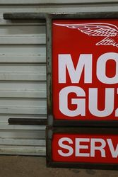 Moto Guzzi Double Sided Enamel Advertising Sign