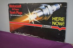 Motorcraft HiThem Spark Plugs Cardboard Advertising Sign