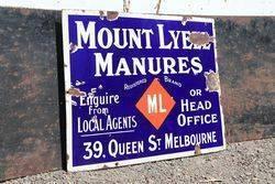 Mount Lyell Manures Enamel Sign