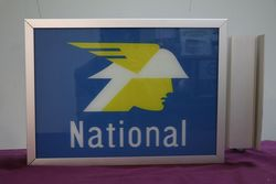 National Glass Panel Advertising Sign