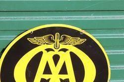 Near Mint AA Double Sided Enamel Sign
