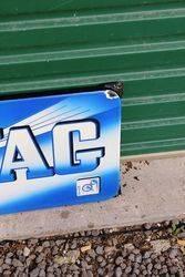 Near Mint Boxed Bovag Enamel Advertising Sign
