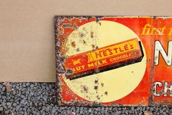Nestle Embossed Tin Advertising Sign
