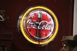 New Coca Cola Neon Light Clock