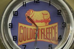New Golden Fleece Neon Light Clock