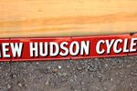 New Hudson Cycles Enamel Strip Sign