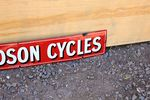 New Hudson Cycles Enamel Strip Sign